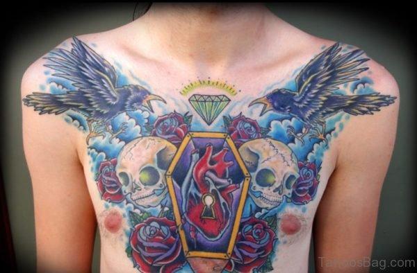 Skull And  Diamond Tattoo