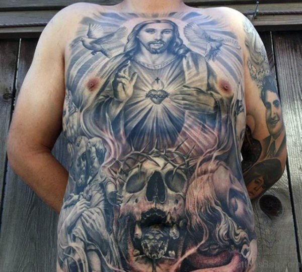 Skull And Jesus Tattoo