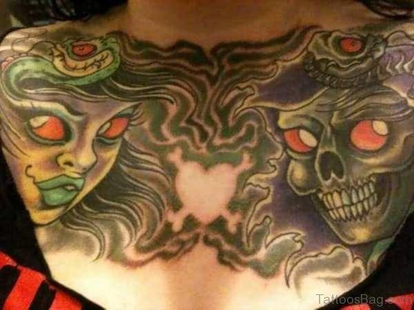 Skull And Medusa Tattoo