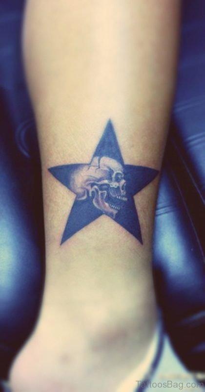 Skull And Star Tattoo
