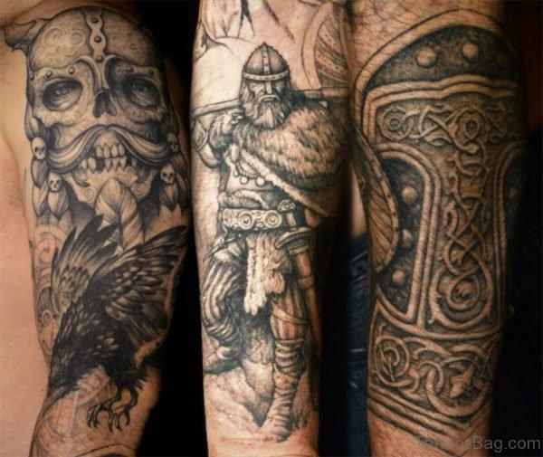 Skull And Warrior Tattoo