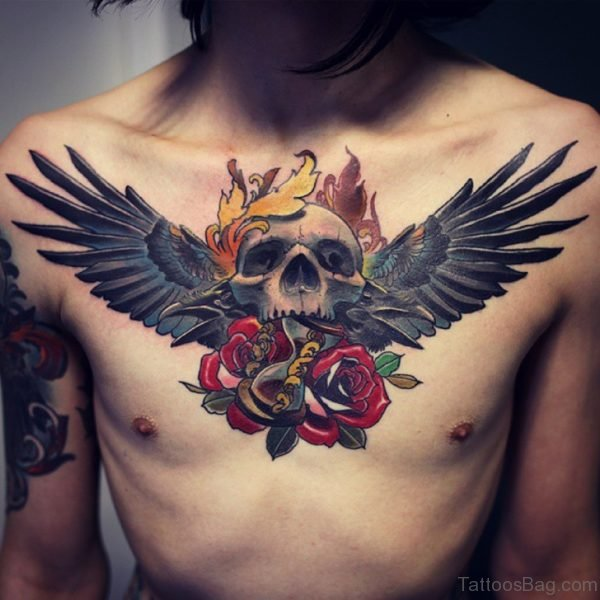 Skull And Wings Tattoo