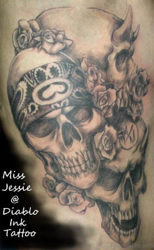Skull Rib Tattoo