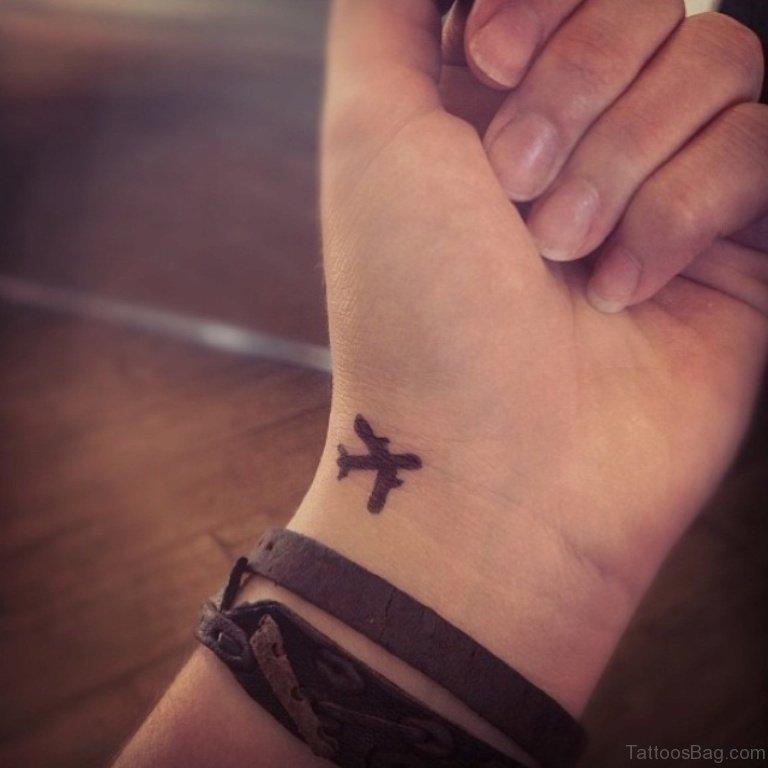 29 Lovely Airplane Wrist Tattoos