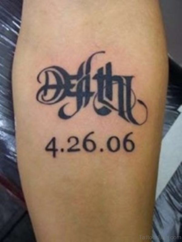 Small Ambigram Tattoo On Arm
