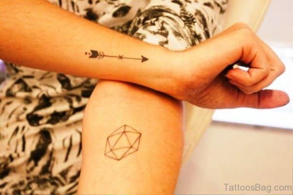 Small Arrow Tattoo On Arm