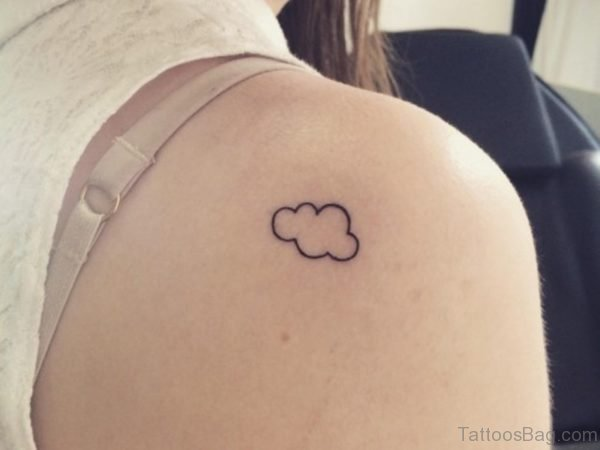 Small Black Cloud Tattoo