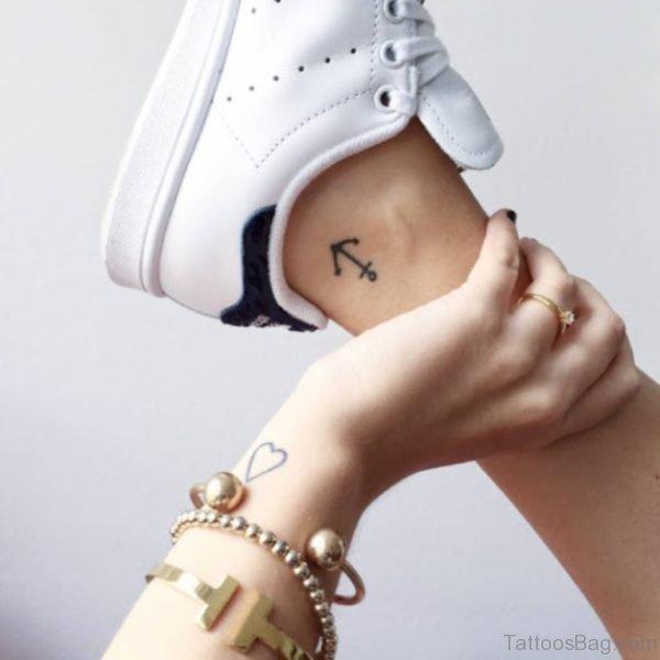 Small Black Anchor Tattoo