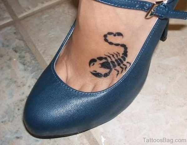Small Black Scorpion Tattoo