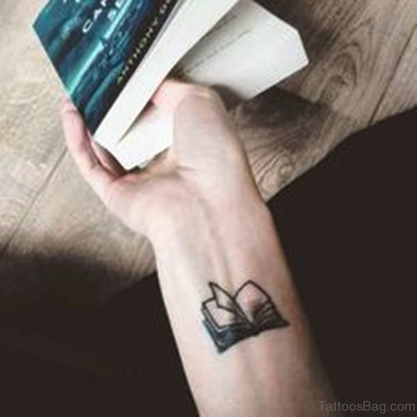 Small Book Wrist Tattoo