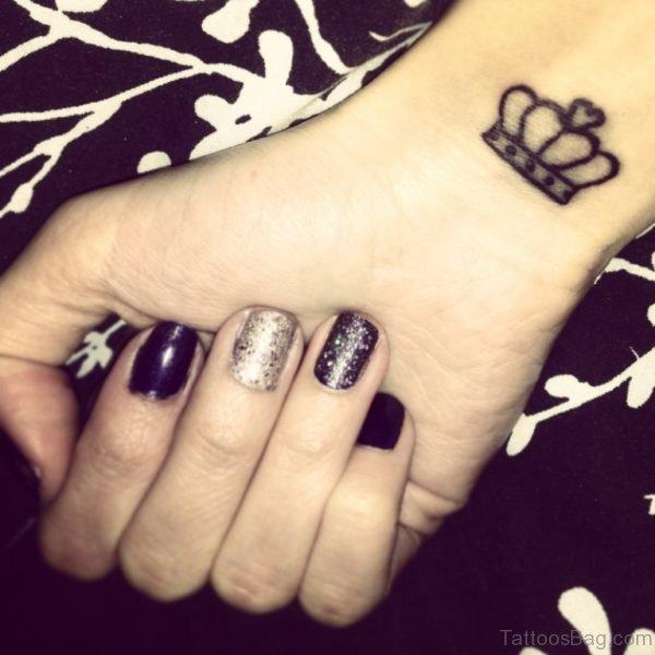 Small Crown Tattoo On Wrist