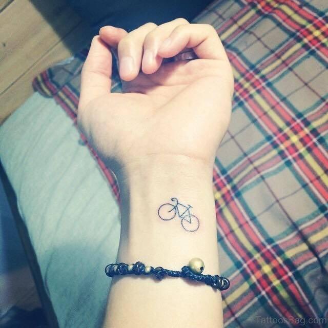 26 Wonderful Bike Tattoos On Wrist