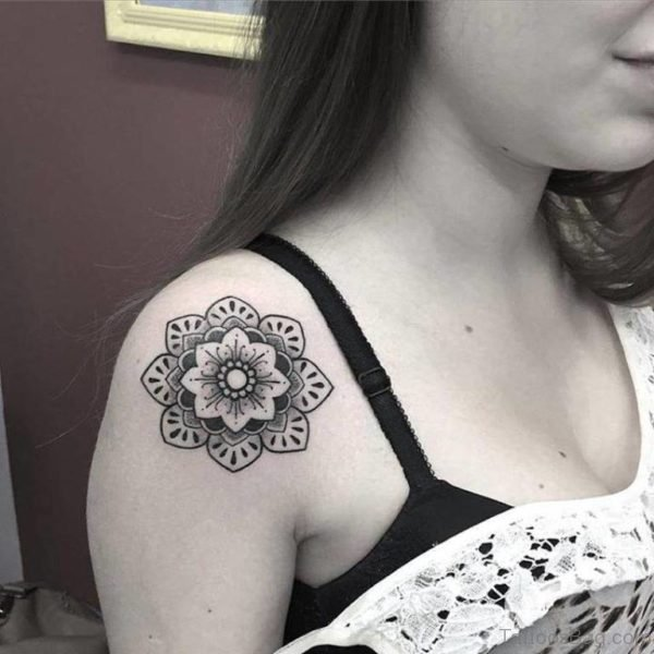 Small Mandala Tattoo For Shoulder