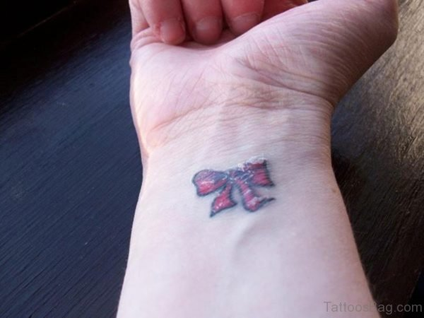 Small Ribbon Wrist Tattoo