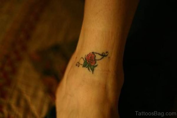 Small Rose Tattoo Design