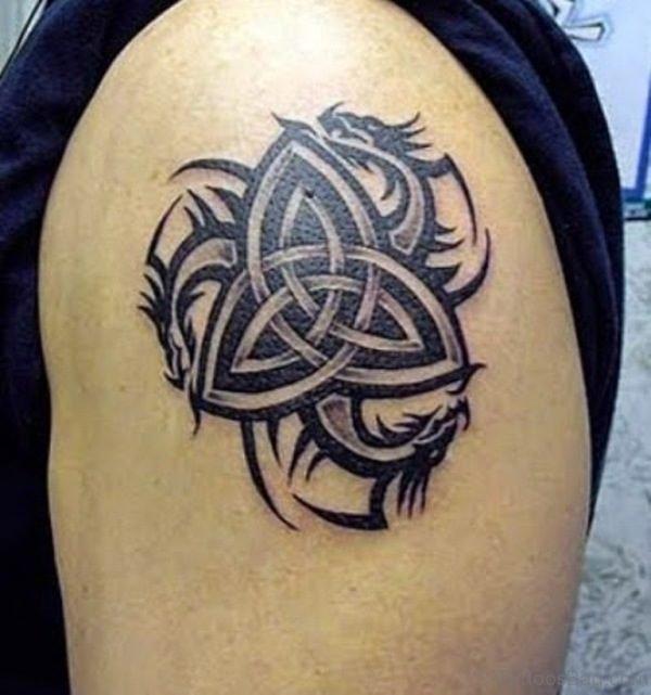 Small Shoulder Tribal Tattoo