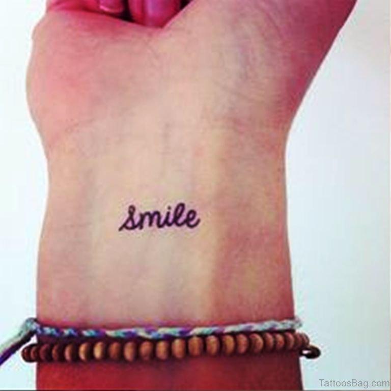 24 wonderful smile wrist tattoos for Smile more tattoo