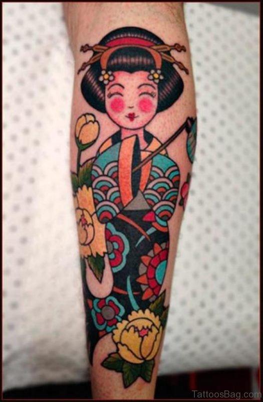 Smiling Geisha Tattoo