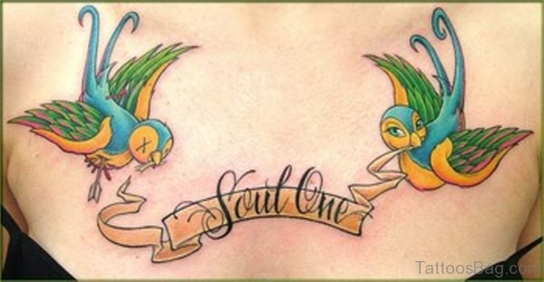 Soul One And Swallow Tattoo