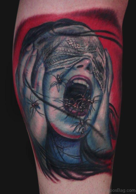 Spider Screamer Tattoo
