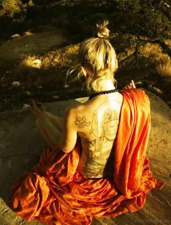 Spiritual Buddha Tattoo Design