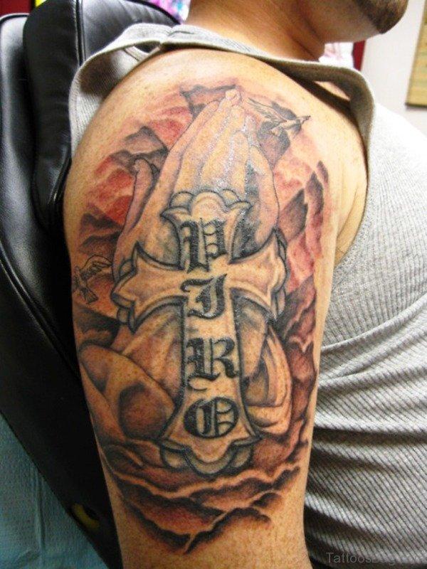 Spiritual Cross Designer Tattoo