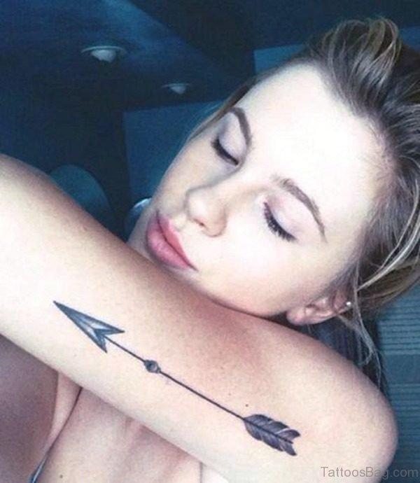 Splendid Arrow Tattoo On Arm