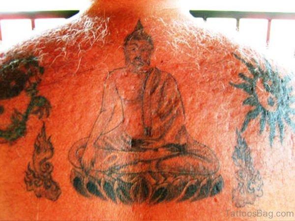 Splendid Buddha Tattoo On Back