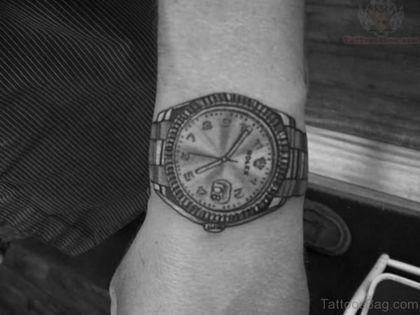 Steampunk Clock Compass Tattoo