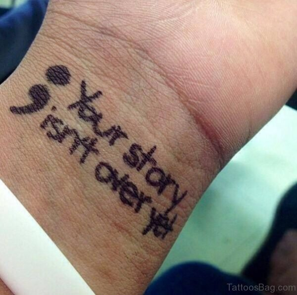 Story Quote Tattoo On Wrist
