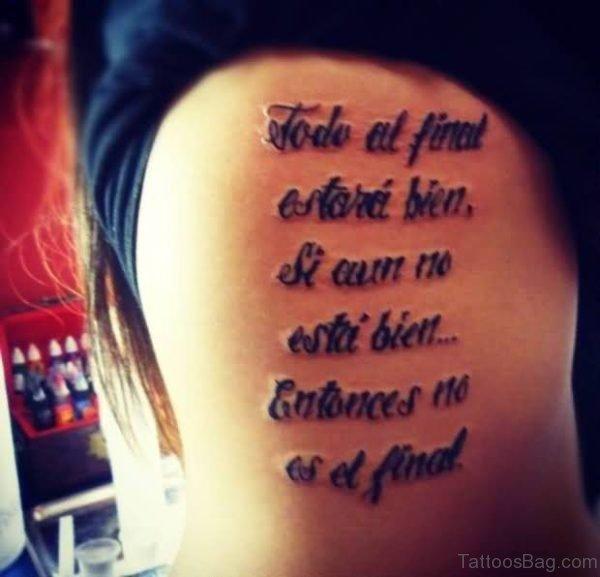 Stunning Ambigram Tattoo
