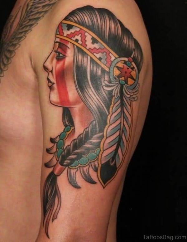 Stunning American Native Tattoo