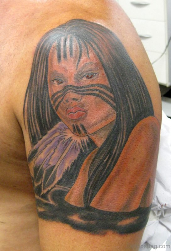 Stunning American Woman Tattoo