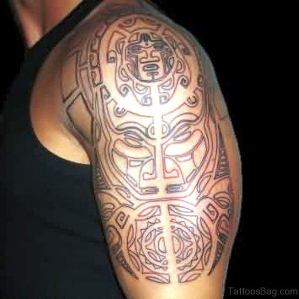 Stunning Aztec Shoulder Tattoo
