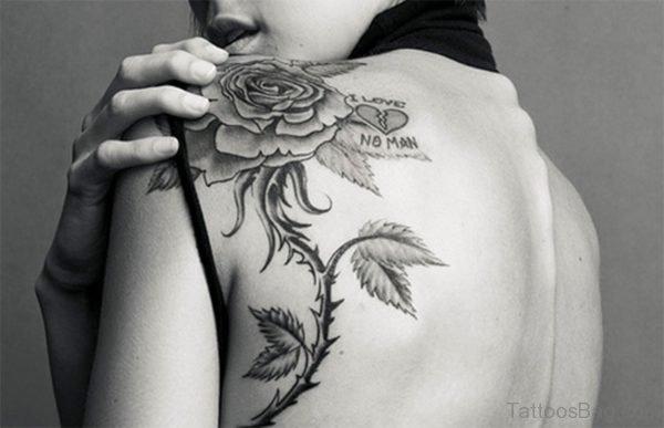 Stunning Black Rose Tattoo Design