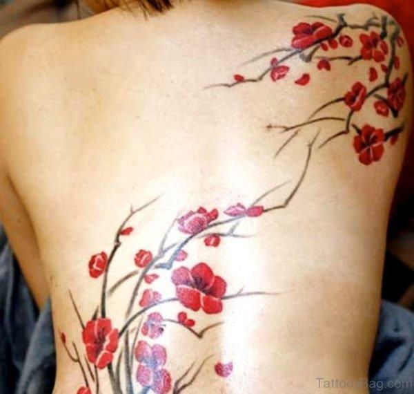 Stunning Cherry Blossom Flower Tattoo