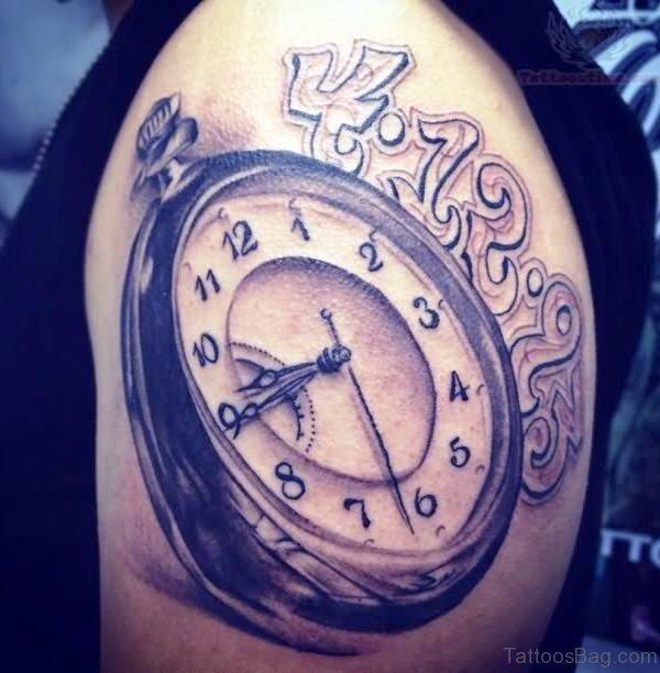 Stunning Clock Tattoo Design