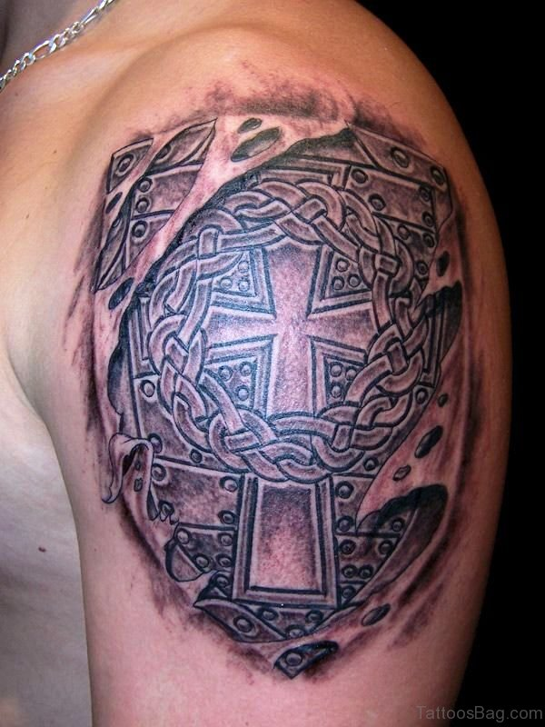 Stunning Cross Armour Tattoo