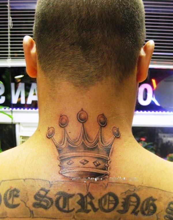 Stunning Crown Neck Tattoo