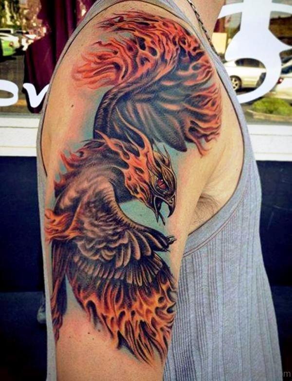 Stunning Eagle Shoulder Tattoo Design