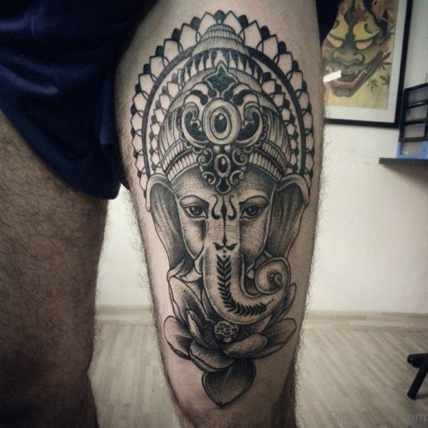Stunning Ganesha Tattoo