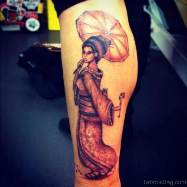 Stunning Geisha Tattoo