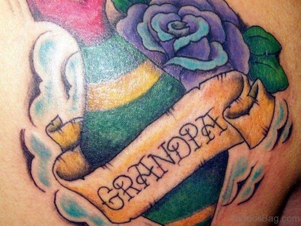 Stunning Grandpa Tattoo On Back