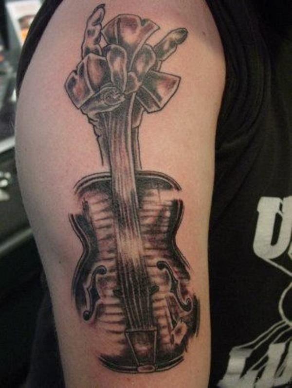 Stunning Guitar Tattoo Design