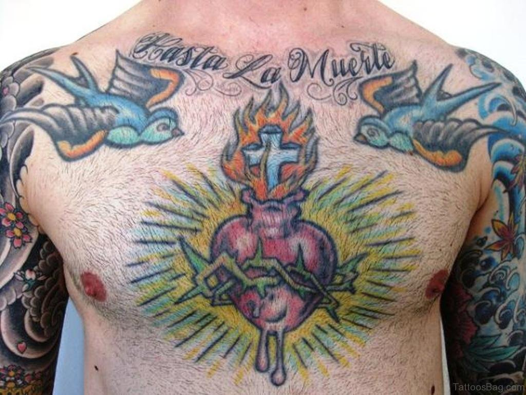 f821d9398e046 81 Mind Blowing Heart Tattoos On Chest