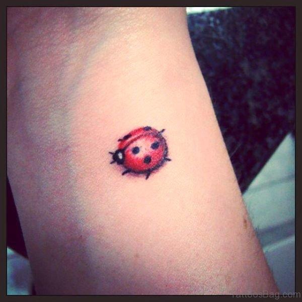 Stunning Ladybug Tattoo On Wrist