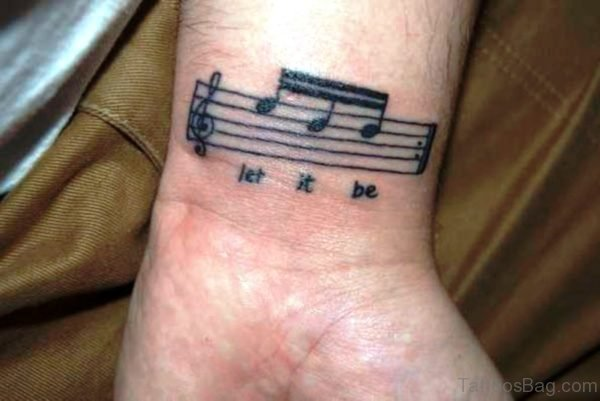 Stunning Let It Be Tattoo On Wrist