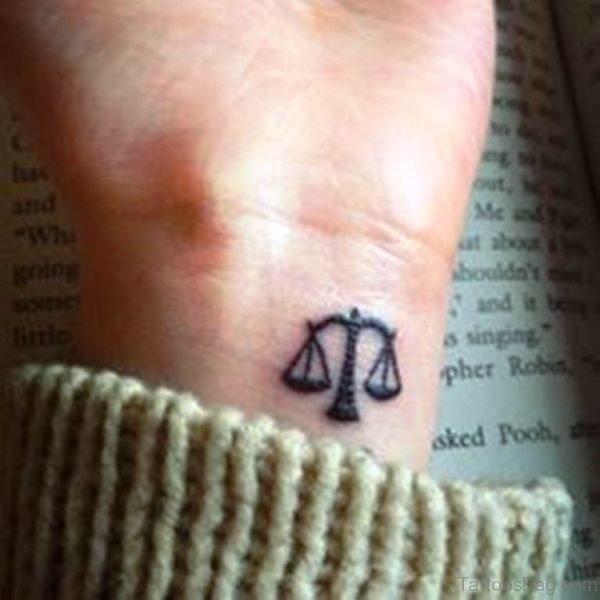 Stunning Libra Wrist Tattoo