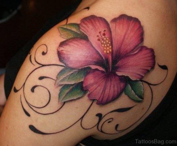 Stunning Lily Shoulder Blade Tattoo