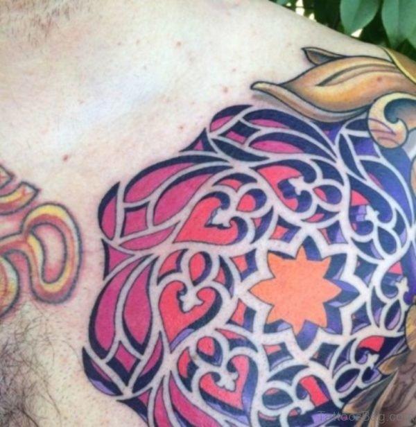 Stunning Mandala Tattoo On Chest